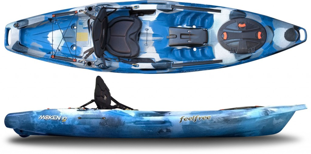 THE RIVER CONNECTION :: SOLO RECREATIONAL SIT ON TOP KAYAK :: FEELFREE MOKEN 10 LITE